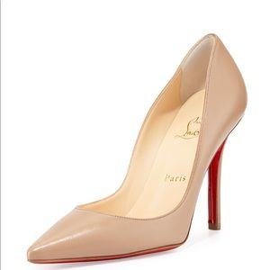 Christian Louboutin Apostrophy 100 Nude Pumps